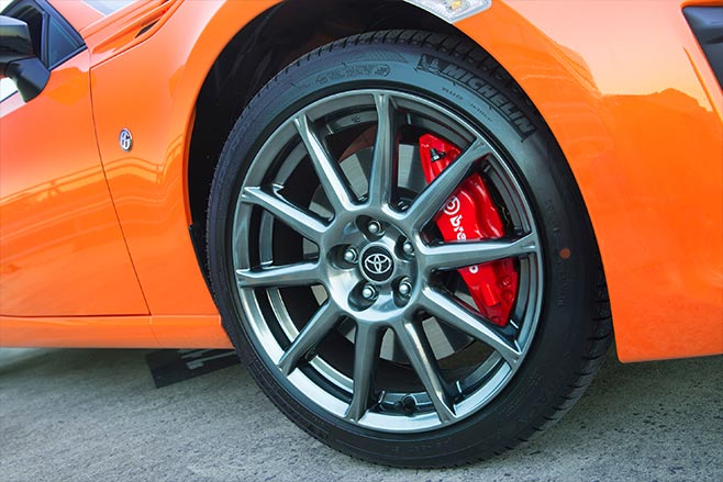 Limited edition Toyota 86 brakes