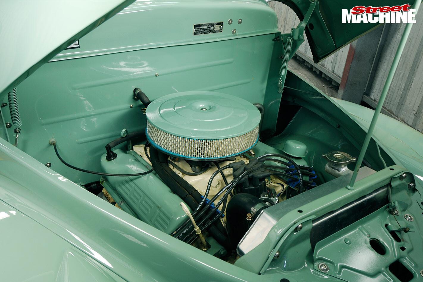 1948 Studebaker M5 pickup engine bay