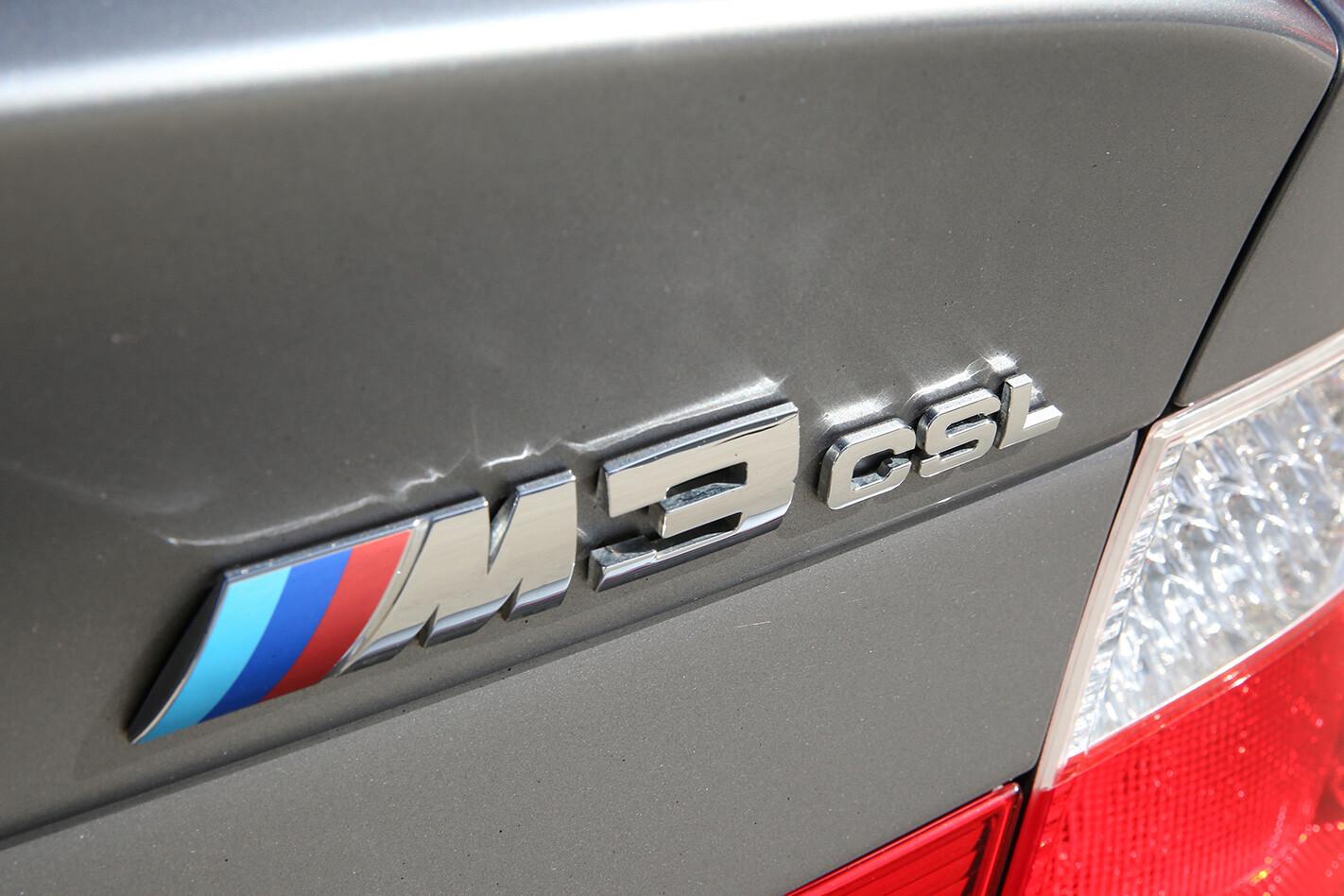 BMW M3 E46 CSL branding