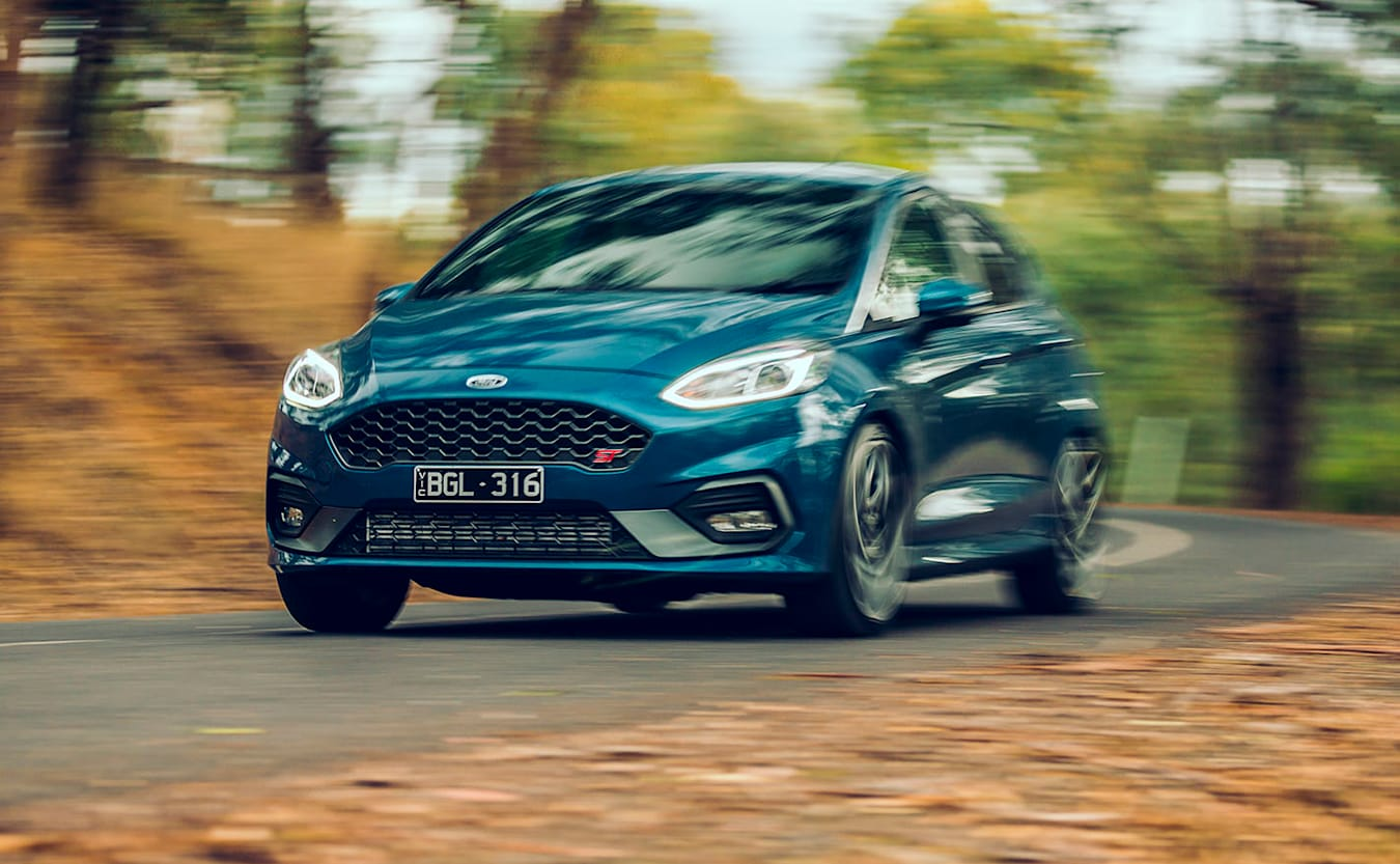 2020 Ford Fiesta ST driving bend