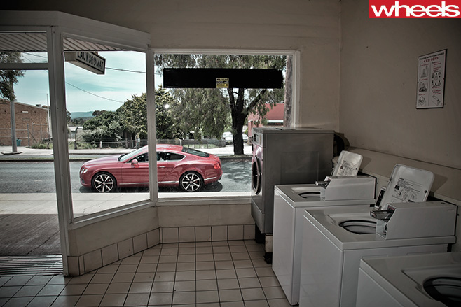 2013-Bentley -Continental -GT-at -laundromat