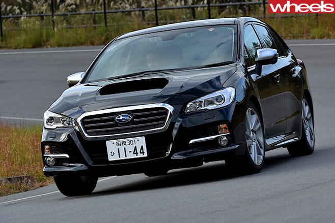 Subaru -Levorg -front -driving -around -corner