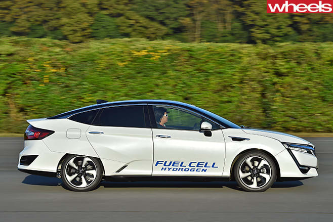 Honda -Clarity -Fuel -Cell -Vehicle -side