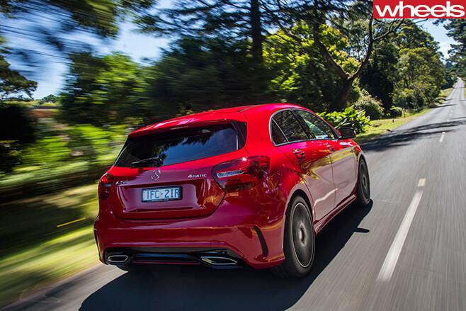 Mercedes -A250-rear -driving