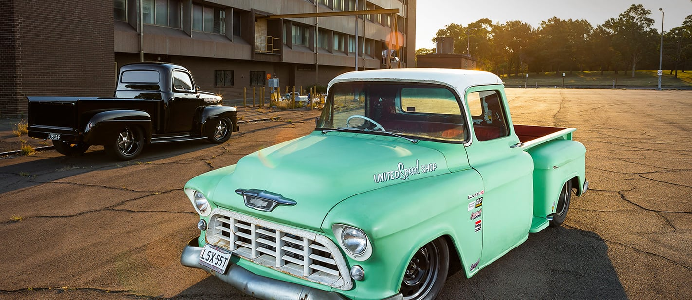55 Chevy pick up pro touring