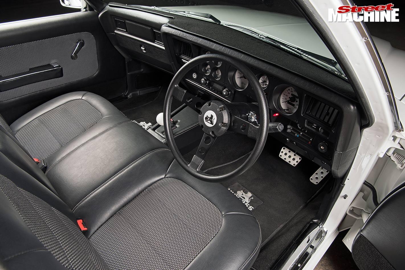Holden HX ute interior