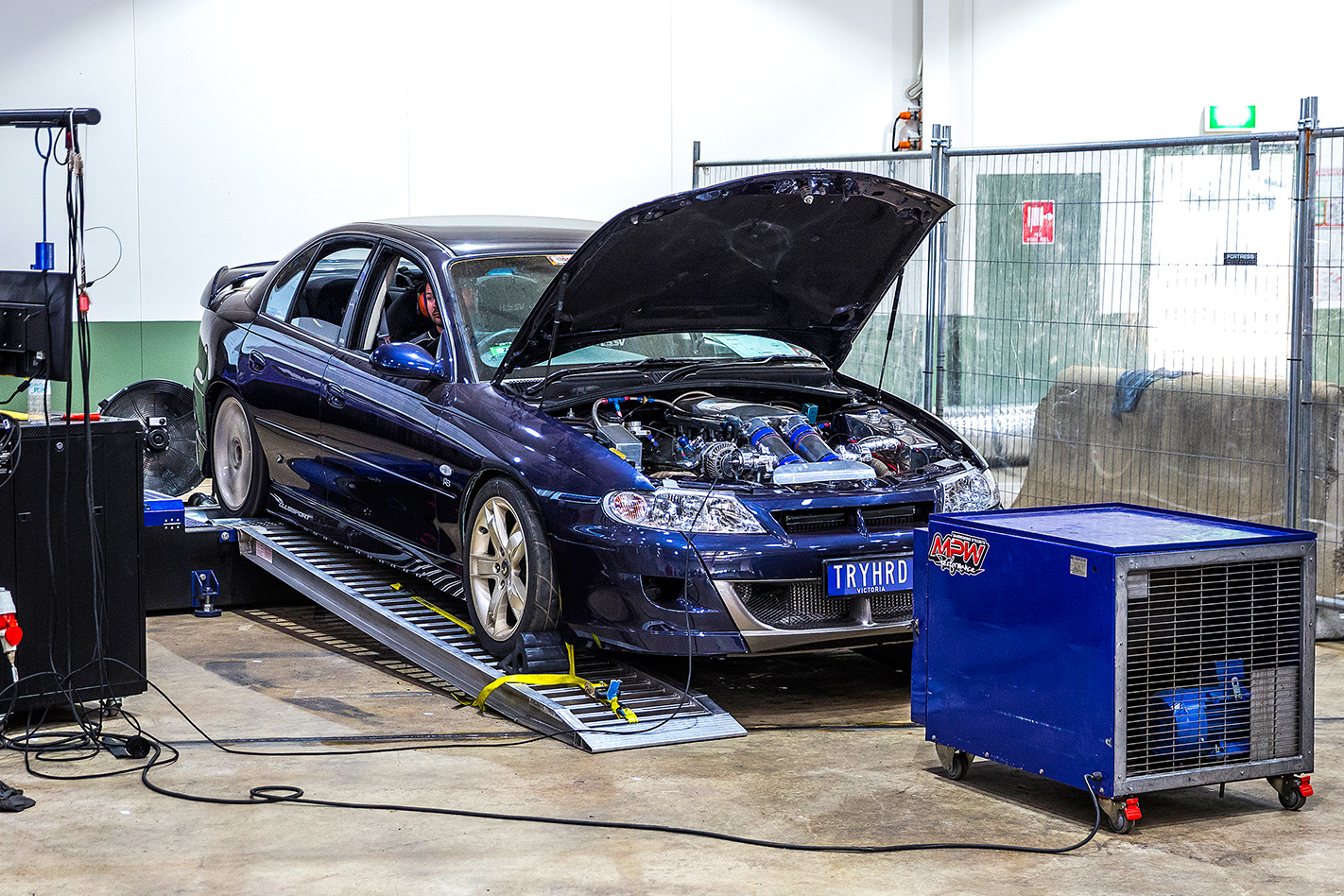 TRYHRD Commodore on dyno