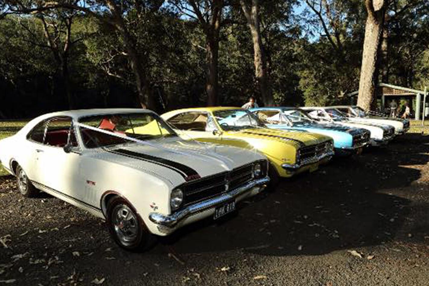 Shane Robinson's Holden Monaro wedding cars