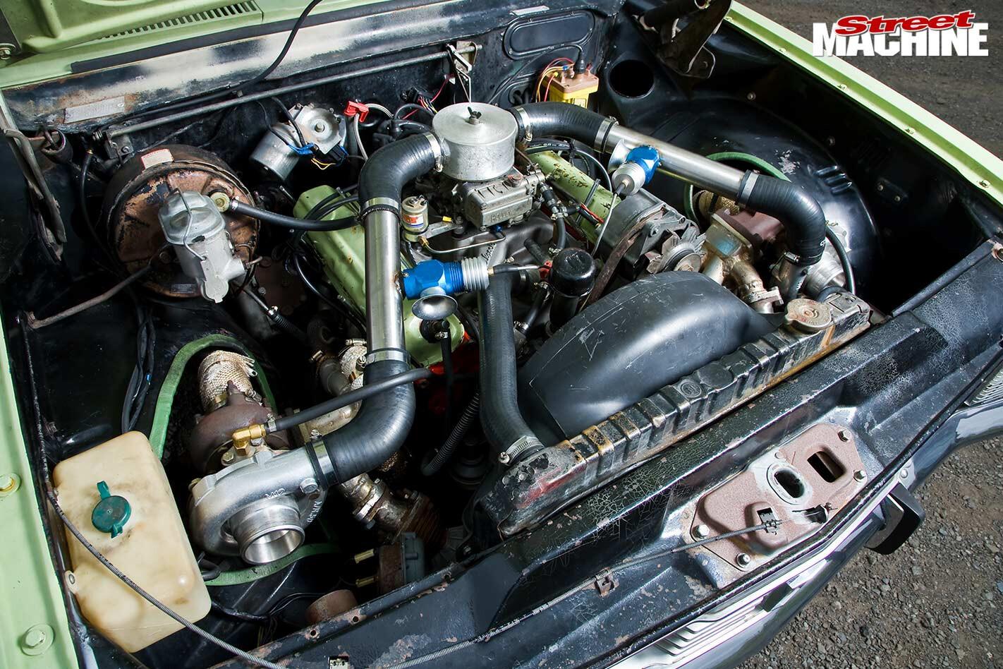 Holden HT Kingswood engine bay