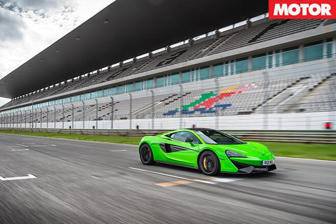 McLaren 570S race track