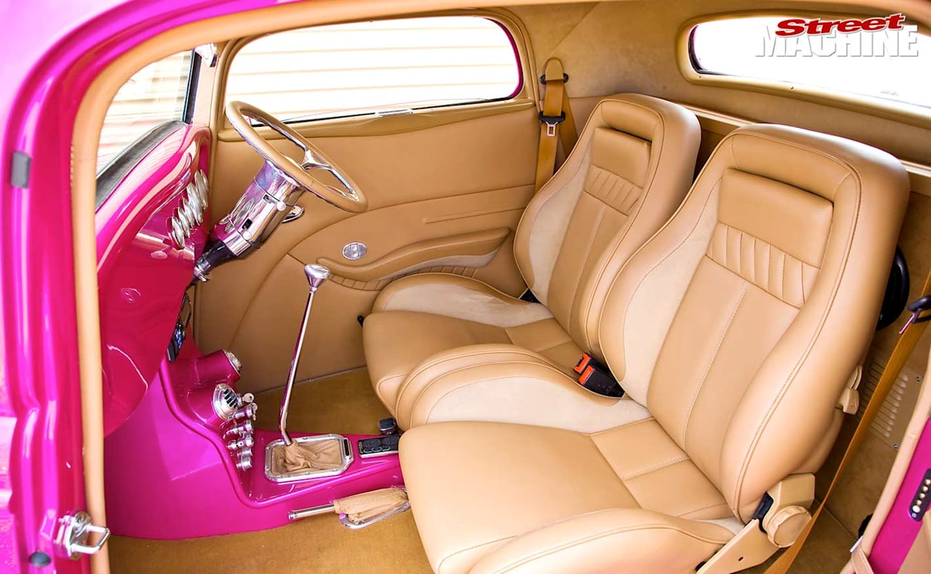 1934 Ford coupe interior