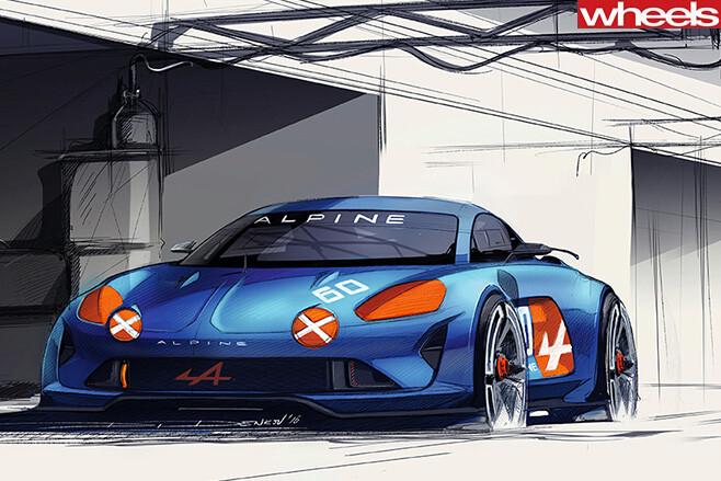 Renault -Alpine -sketch -front