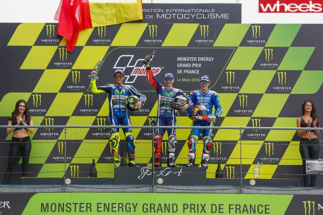 Lorenzo -Moto GP-podium