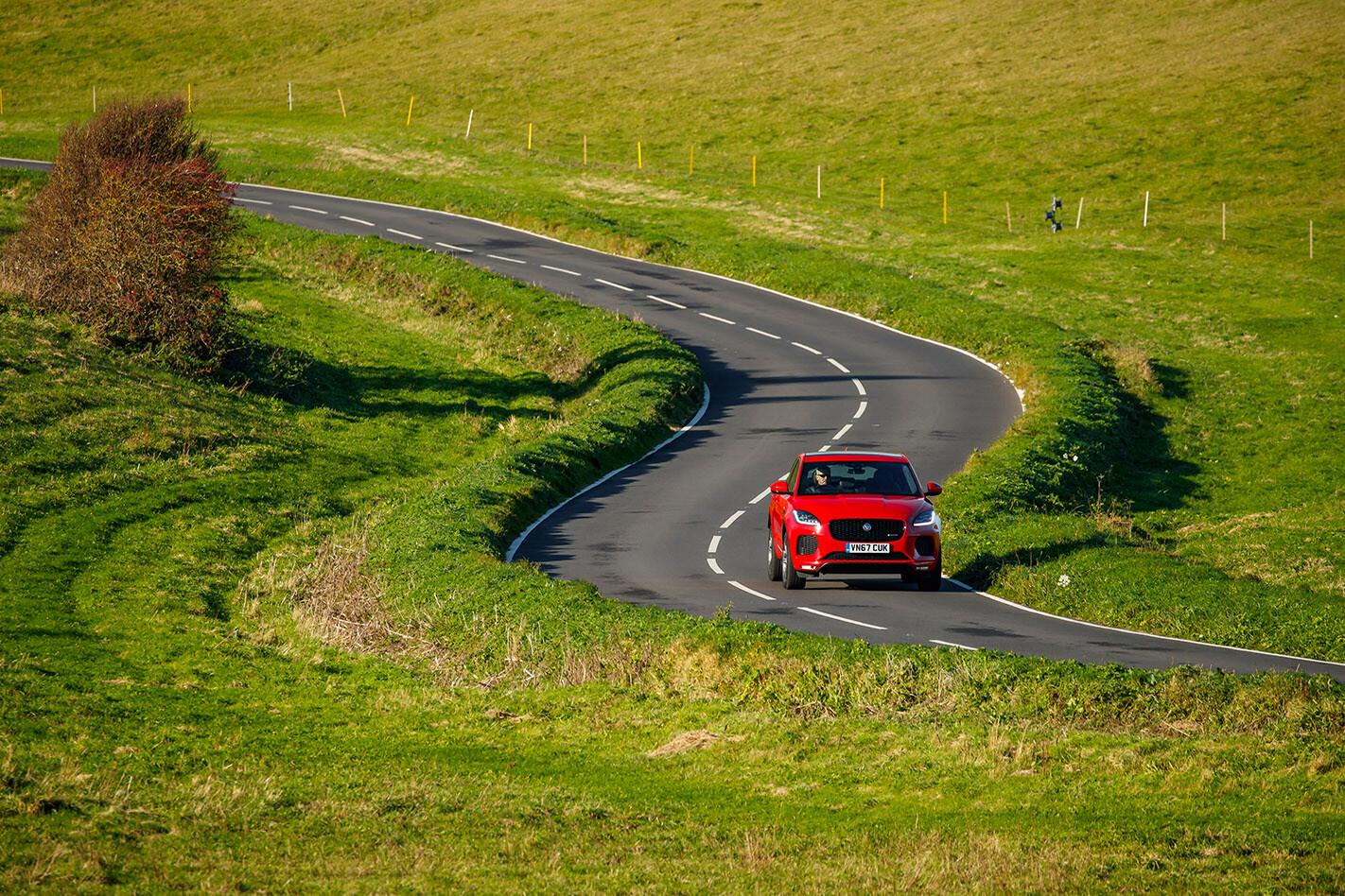 Jaguar E Pace Driving Front Jpg