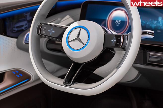 Mercedes -Benz -EQ-concept -SUV-steering -wheel