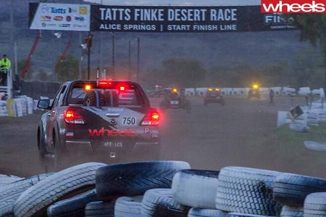 Finke -Desert -Race -Mazda -BT-50-rear -finish -line