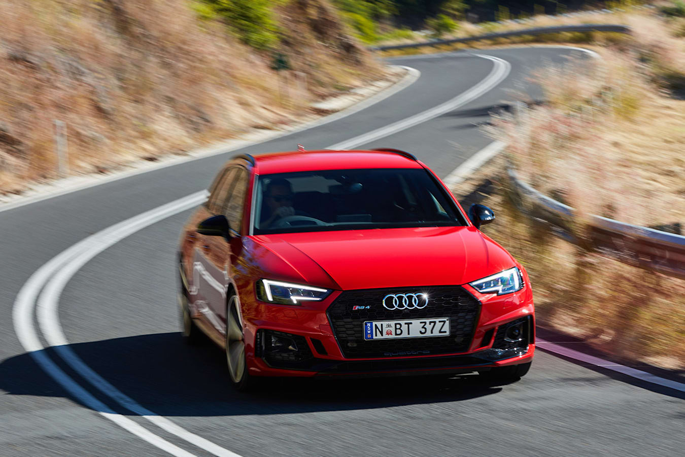 Audi RS 4 Driving Front Jpg