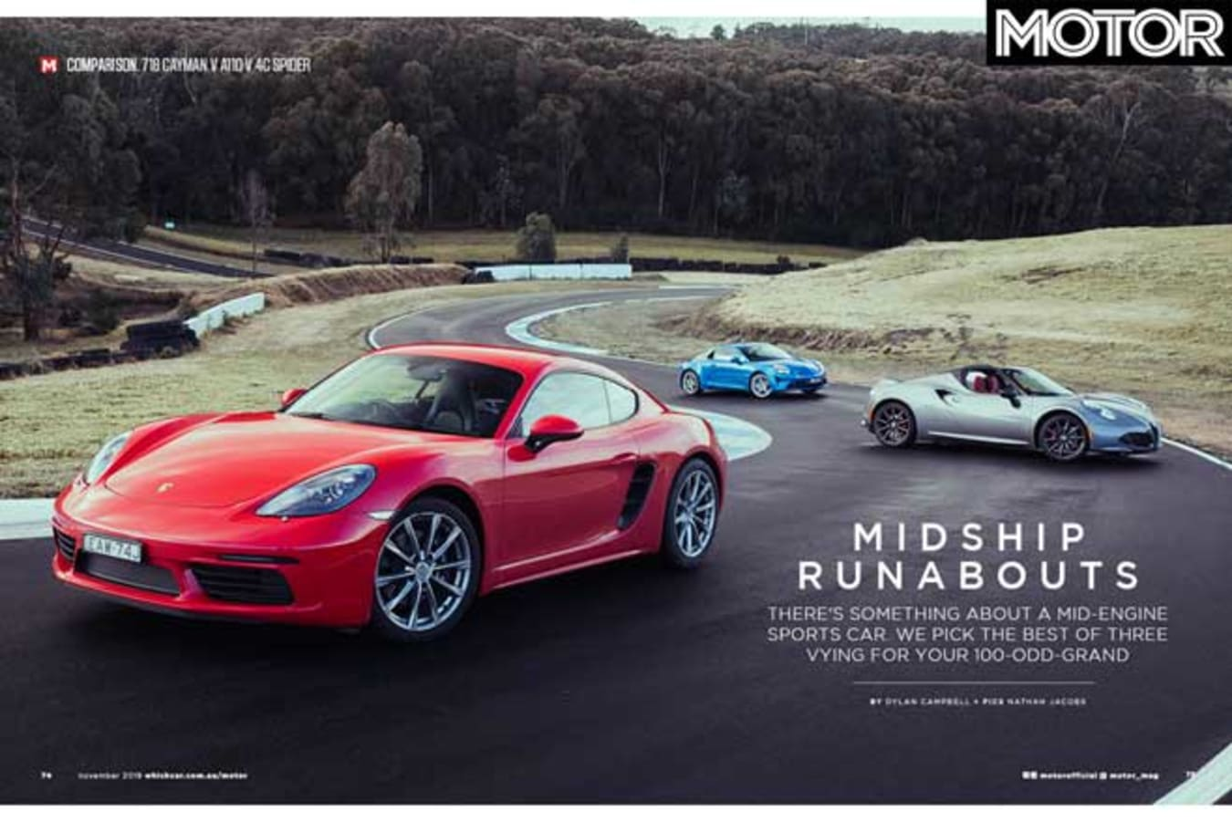 MOTOR Magazine November 2019 Issue Preview Coupes Jpg