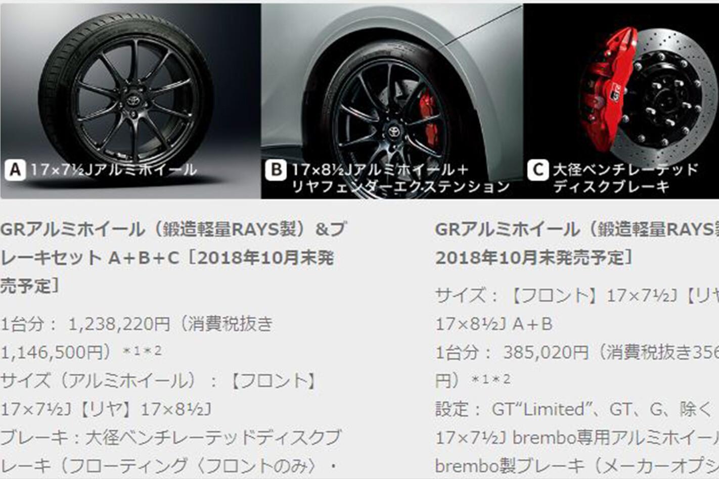 Toyota Gazoo 86 Options Jpg