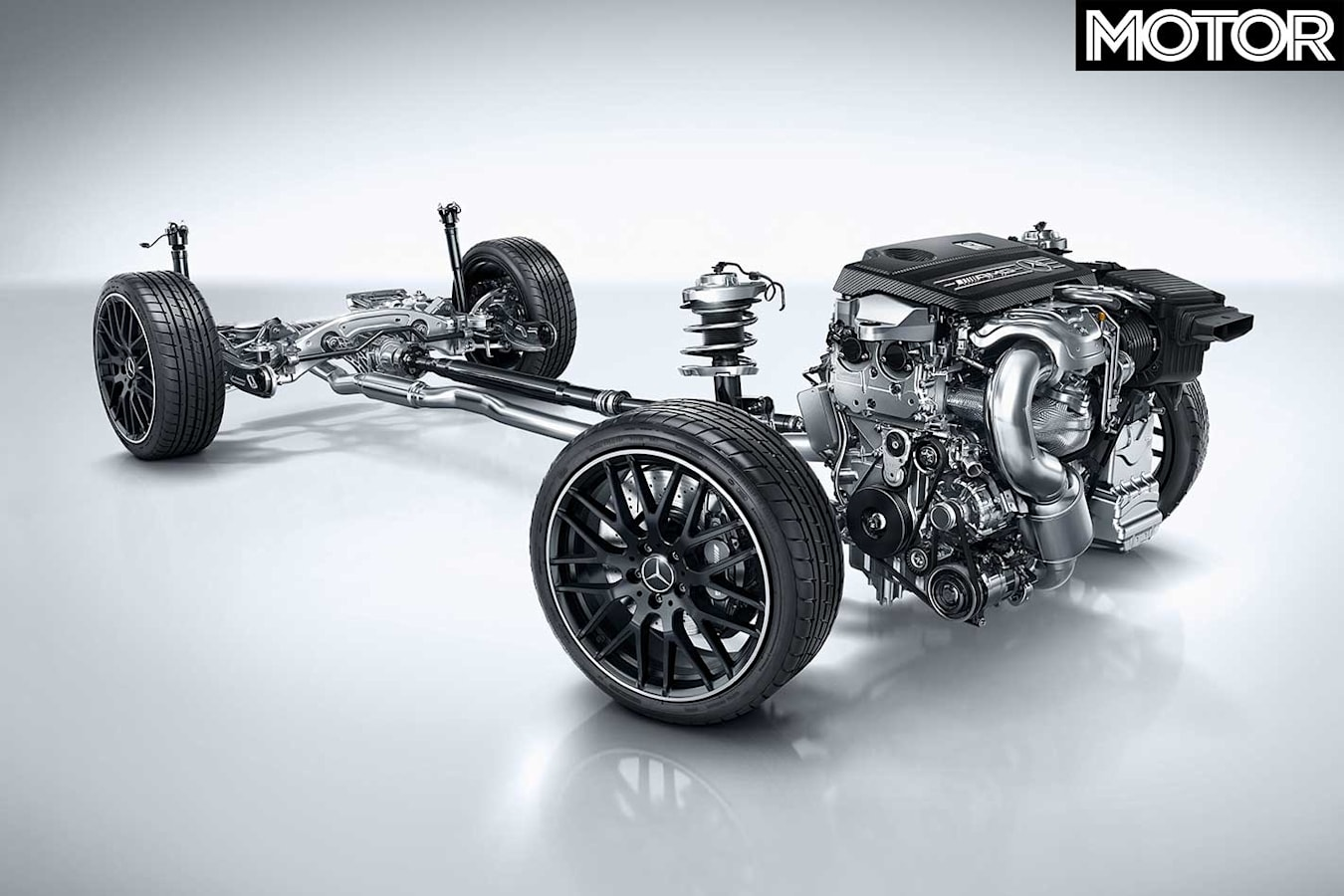Mercedes AMG A 45 Powertrain Jpg