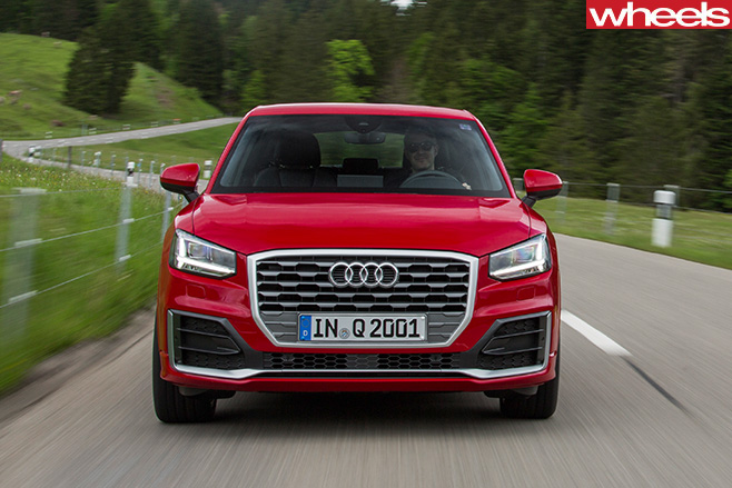 Audi -Q2-driving -front