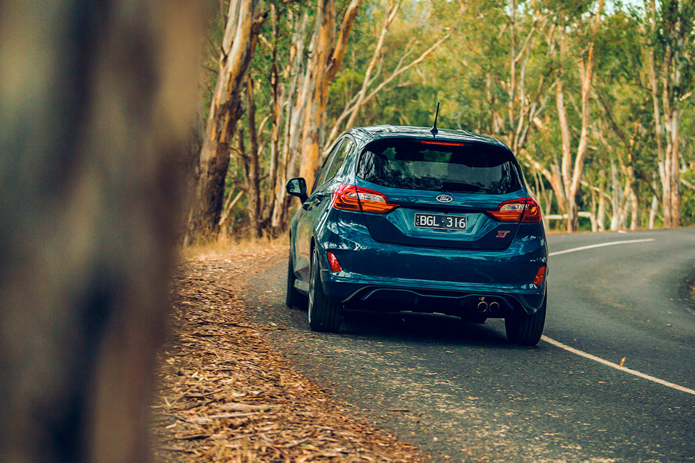 Ford Fiesta driving rear