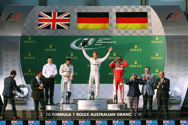 F1 Podium in Melbourne Australian Grand Prix