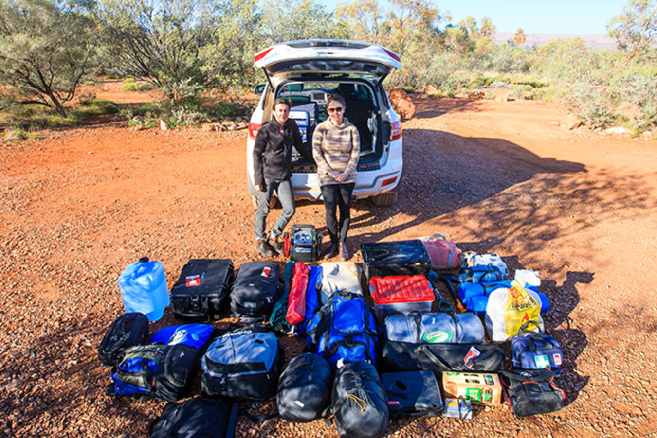 Ford Everest with luggage