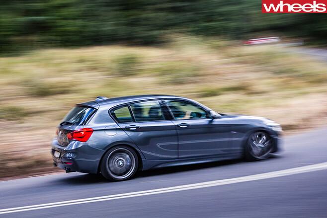 BMW-M135i -driving -side -rear