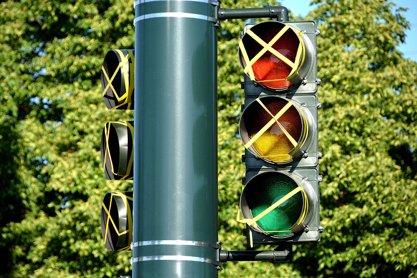 Broken Traffic Lights Out Of Order Jpg