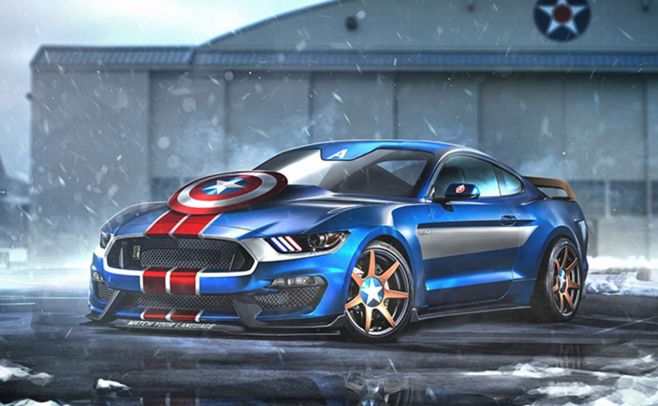 Ford Mustang GT350R Captain America