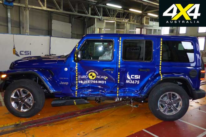 Jeep Wrangler Revised Three Star ANCAP Safety Rating Crash Test Jpg