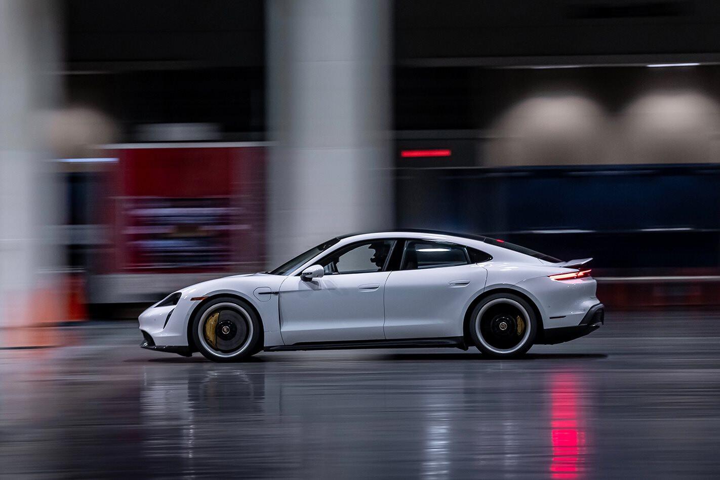 Porsche Taycan Turbo S crushes indoor speed record