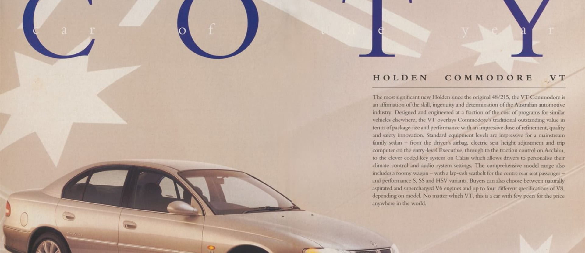 1997 Holden Commodore Car of the Year VT