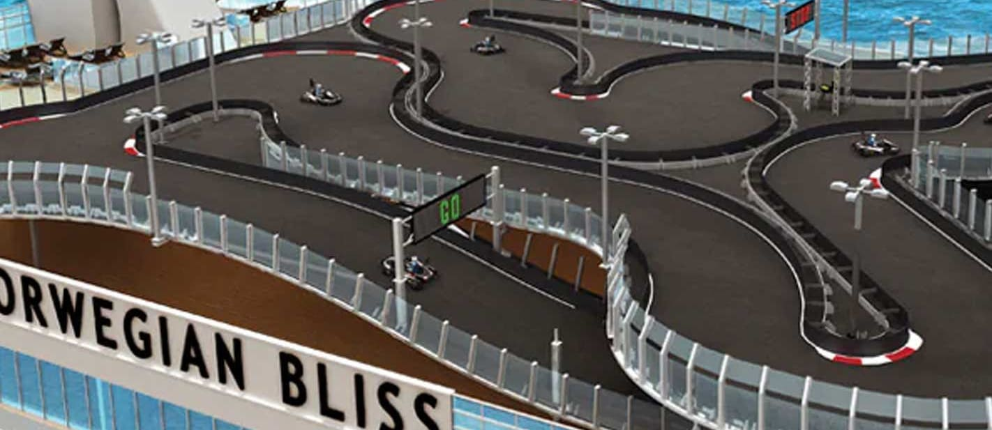 New cruise ship has largest kart track at sea