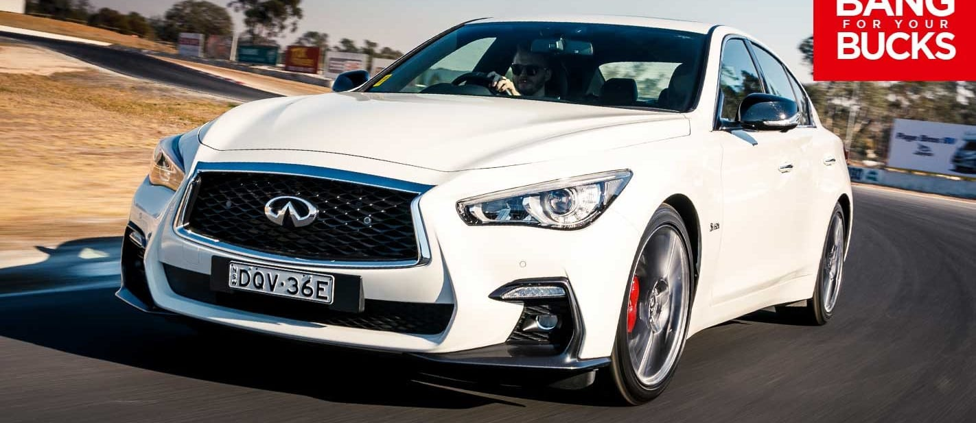 2018 Infiniti Q50 Red Sport track review