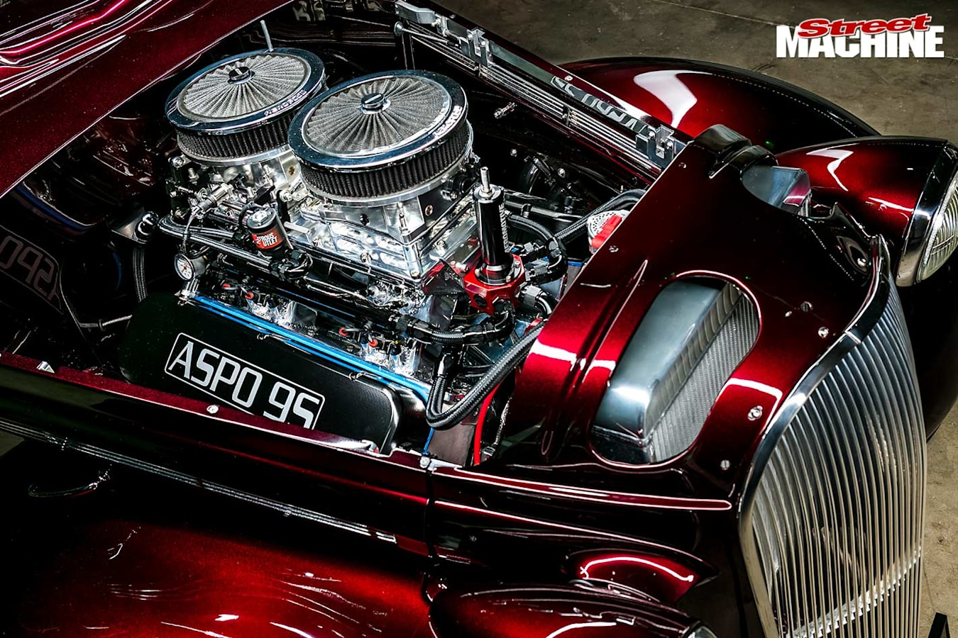 Plymouth coupe engine bay