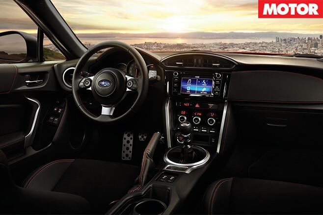 Facelifted Subaru BRZ interior