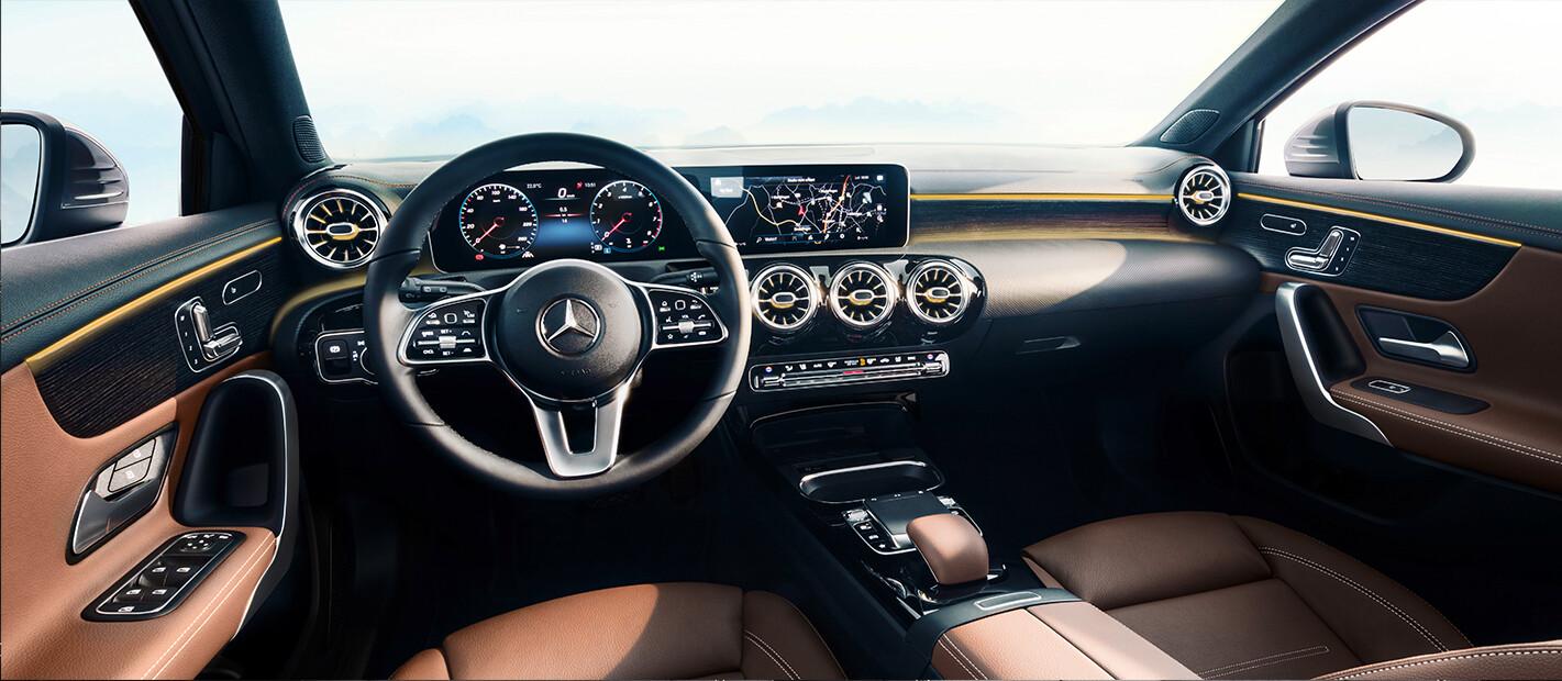 Mercedes A Class Interior Brown Jpg