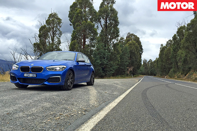 BMW M135i on the highway