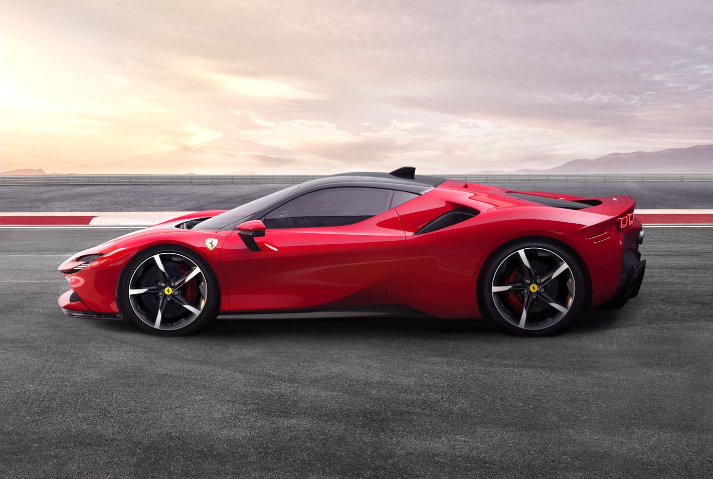 2020 Ferrari SF90 Stradale side view