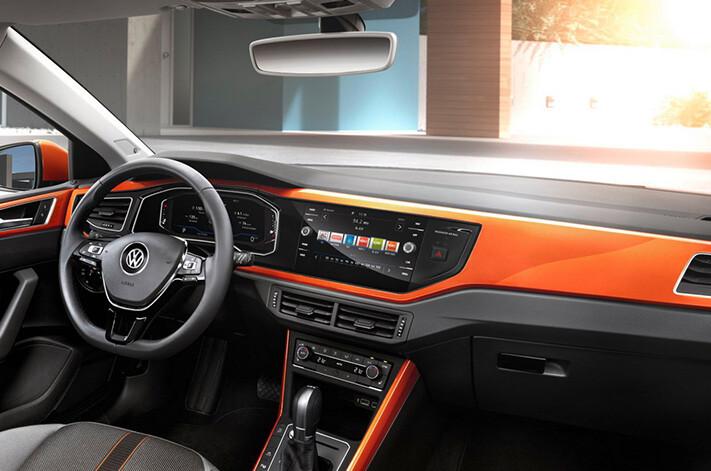 2018 Volkswagen Polo Revealed Interior Orange Jpg