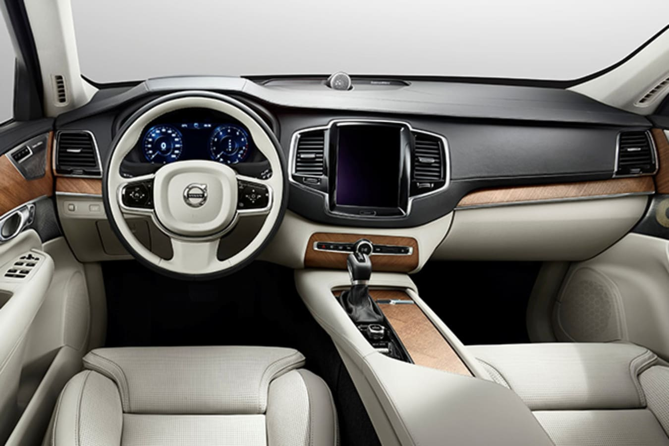 Volvo XC-90 dashboard touchscreen and interior