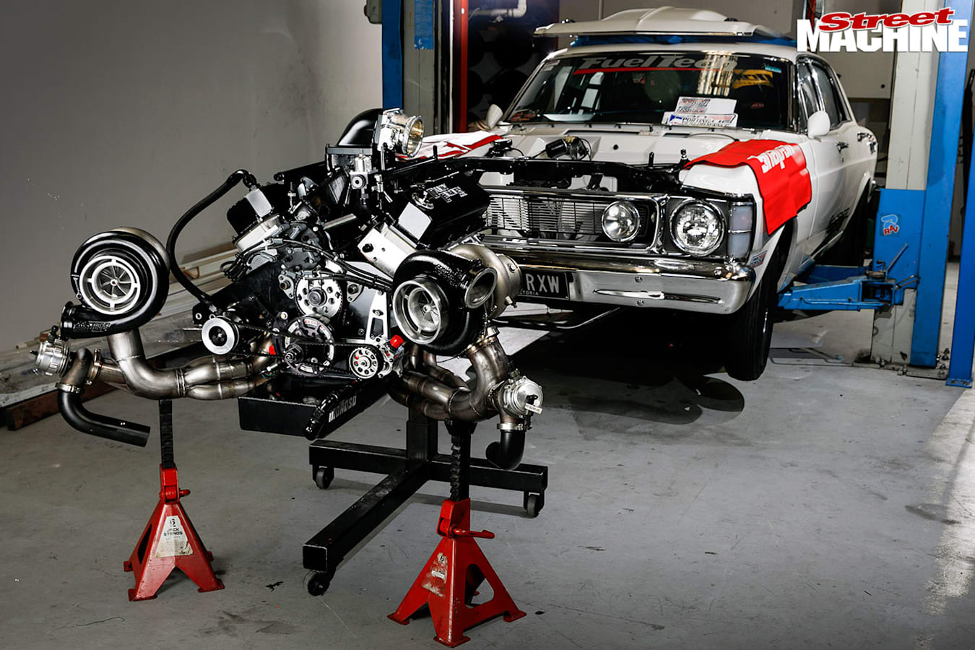 twin-turbo Windsor engine