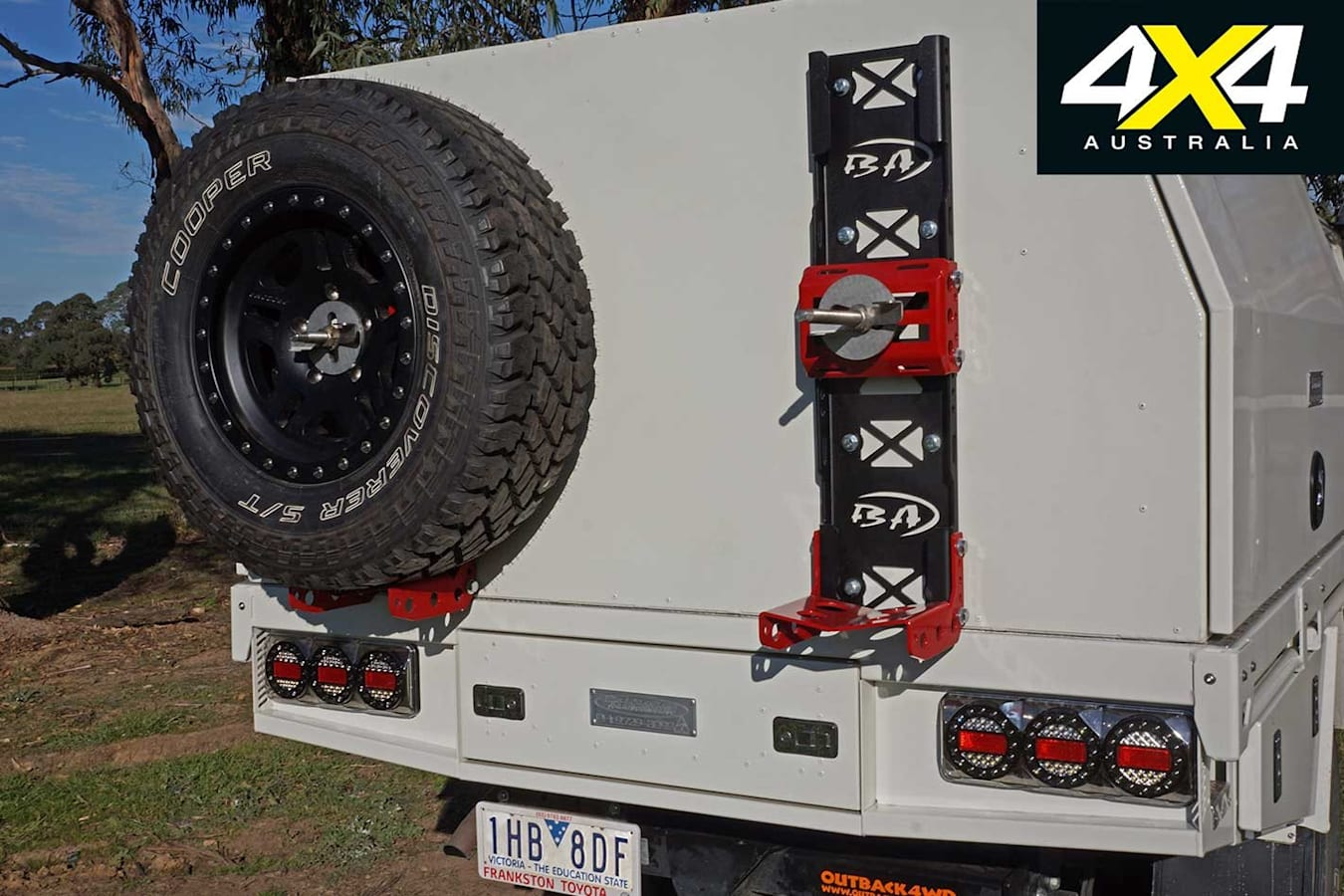 4 X 4 Shed Toyota Land Cruiser 79 Series Spare Wheel Holders Jpg