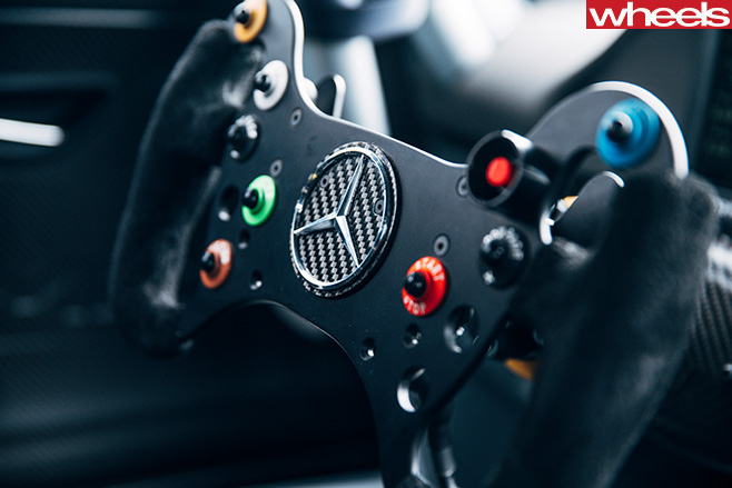 Mercedes -AMG-GT-3-at -Mt -Panorama -steering -wheel