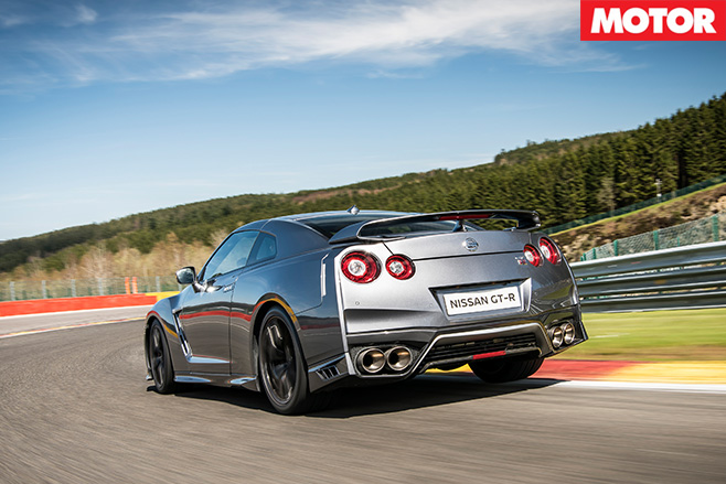 Nissan MY17 GT-R rear driving