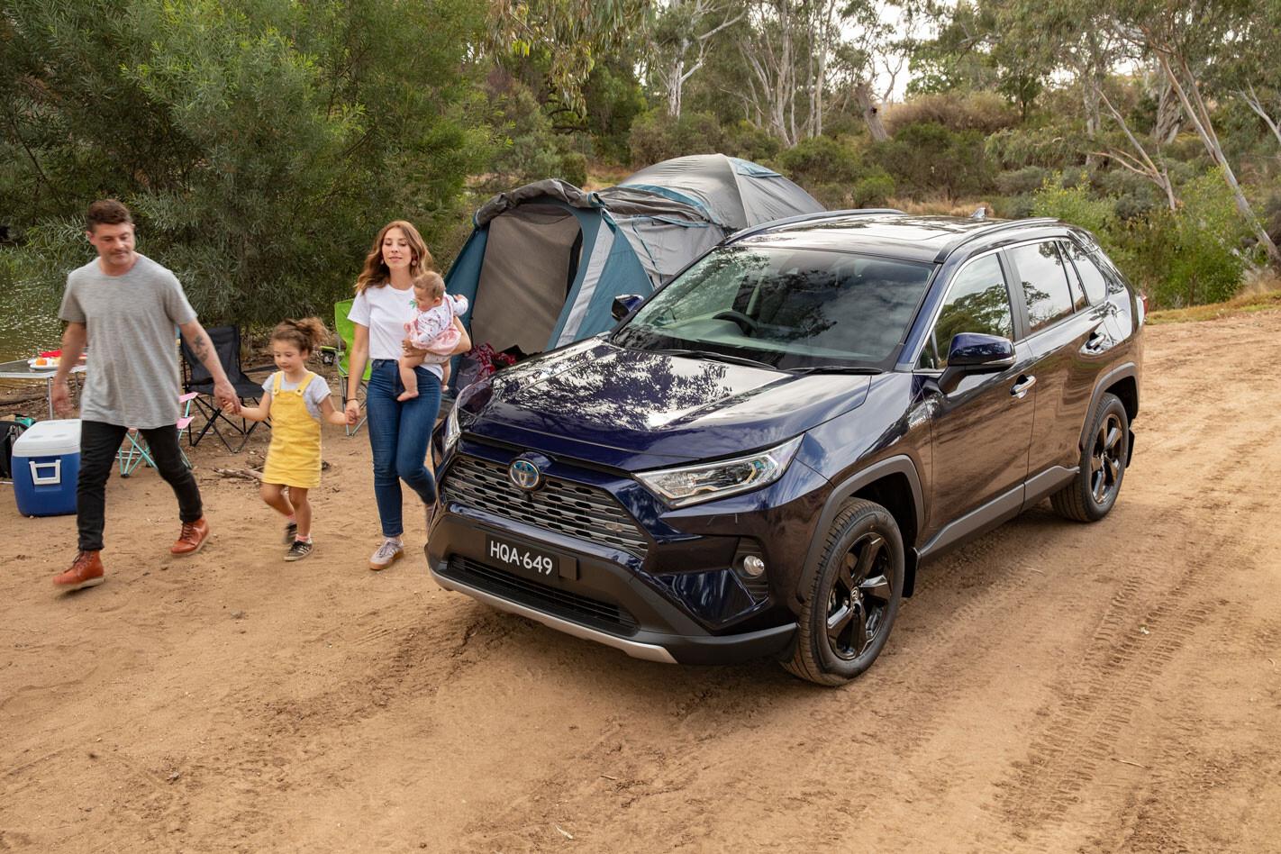 Toyota RAV4 camping trip
