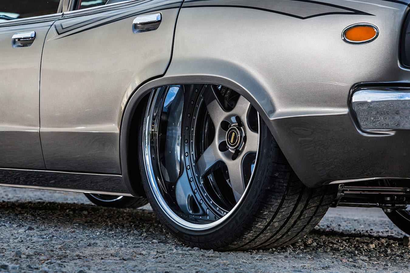 Mazda RX-3 rear wheel