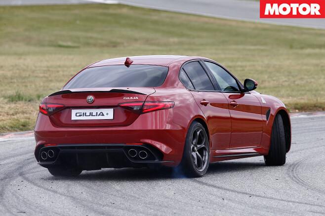 2016 Alfa Romeo Giulia rear driving